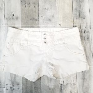 White Guess Denim Shorts